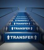 Escadas moventes a transferir, conceito da escada rolante Imagens de Stock Royalty Free