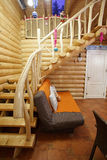 Escadas na casa de madeira Fotografia de Stock Royalty Free