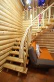 Escadas na casa de madeira Imagens de Stock Royalty Free