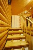 Escadas na casa de madeira Foto de Stock Royalty Free
