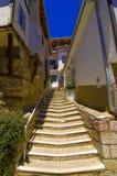 Escadas na cidade velha de Ohrid Fotos de Stock Royalty Free