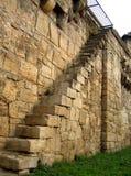 Escadas na parede Fotografia de Stock
