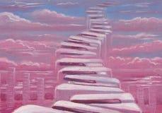 Escadas no céu Imagens de Stock Royalty Free