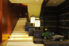 Escadas no hotel Imagens de Stock Royalty Free