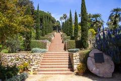 Escadas no jardim botânico Blanes Imagens de Stock