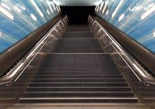 Escadas no metro da cidade Hamburgo Foto de Stock Royalty Free