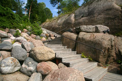 Escadas no parque de Sapokka imagem de stock royalty free