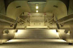 Escadas para baixo fotografia de stock royalty free