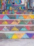 Escadas pintadas, Achrafieh, Beirute, Líbano fotografia de stock royalty free