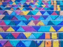 Escadas pintadas, Achrafieh, Beirute, Líbano imagem de stock