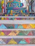Escadas pintadas, Achrafieh, Beirute, Líbano fotografia de stock