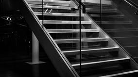 Escadas preto e branco Fotos de Stock