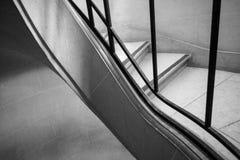 Escadas preto e branco Imagens de Stock Royalty Free
