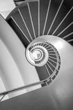 Escadas redondas que vão acima Fotos de Stock