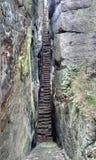 Escadas rochosas Imagem de Stock