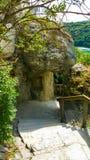 Escadas rochosas de Rheinfall, natureza pura Fotos de Stock