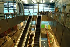 Escadas rolantes Fotografia de Stock
