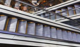 Escada rolante 2 QVB fotos de stock