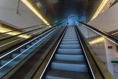 Escadas rolantes mecânicas Fotografia de Stock Royalty Free