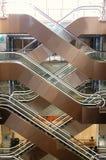 Escadas rolantes na alameda Fotografia de Stock Royalty Free