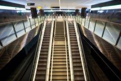 Escadas rolantes na estação do bonde do ZAR Genil do ¡ de AlcÃ, Granada Fotografia de Stock