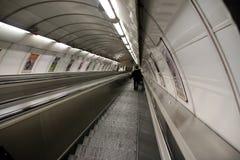Escadas rolantes no metro Foto de Stock Royalty Free