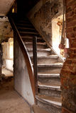 Escadas velhas Fotos de Stock Royalty Free