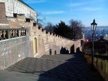 Escadas velhas do castelo, Praga, República Checa Fotos de Stock Royalty Free