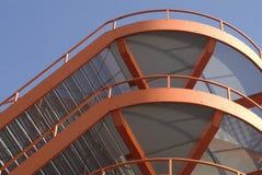 Escadas vermelhas do projeto Imagem de Stock Royalty Free