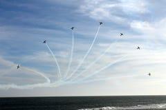 Escadron brésilien de fumée Photo libre de droits