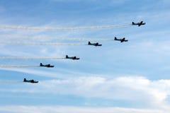 Escadron brésilien de fumée Image libre de droits
