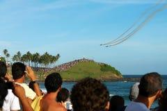 Escadron brésilien de fumée Photos stock