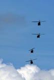 Escadron d'hélicoptère Photographie stock