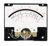 Escala análoga del multímetro de la herramienta de la medida con el indicador imagen de archivo