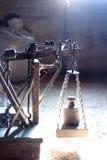 Escala antigua del peso Foto de archivo libre de regalías