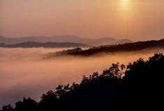 Escala azul de Ridge Mountains Appalachian Mountains imagens de stock
