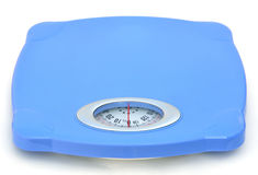 Escala azul doce do peso do banheiro fotos de stock