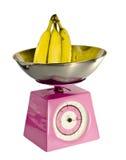 Escala completamente das bananas Fotografia de Stock Royalty Free