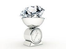 Escala da cozinha com diamante gigante Fotografia de Stock