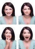Escala das expressões imagem de stock