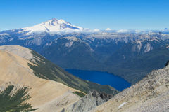 Escala de Cerro Tronador Andes, Argentina imagem de stock