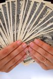 Escala de contas de dólar Imagem de Stock Royalty Free