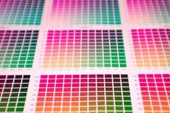 Escala de cores imagem de stock