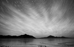 Escala de Graham Peak Night Sky Mountain dos planos de sal de Bonneville Fotografia de Stock Royalty Free