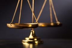 Escala de justiça imagens de stock