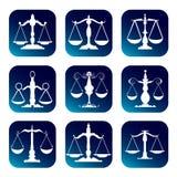 Escala de justiça Fotografia de Stock Royalty Free