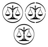 Escala de justiça ilustração stock