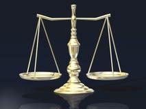 Escala de Justita, delantera Imagen de archivo libre de regalías