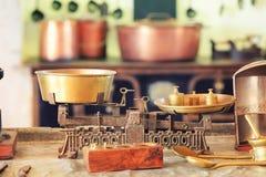 Escala de la cocina Imagenes de archivo
