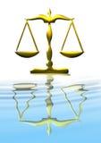 Escala de la justicia Fotos de archivo libres de regalías